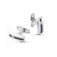 Серебряные запонки с фианитами РО63-02-060Р208