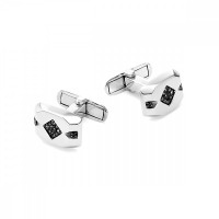 Серебряные запонки с фианитами РО63-02-053Р216