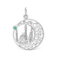 Серебряная мечеть с фианитами РО13-023Р