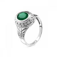 Серебряное кольцо с агатами РО310097Р458