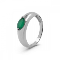 Серебряное кольцо с агатами