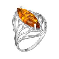 Серебряное кольцо с янтарем РОКП5Р640