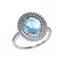 Серебряное кольцо с алпанитами и фианитами ПЮ251068гл