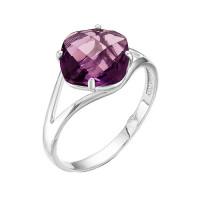 Серебряное кольцо с аметистами РОК-3094Р