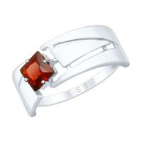 Серебряное кольцо с гранатами ДИ92011828