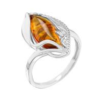 Серебряное кольцо с янтарем РОКП52Р640