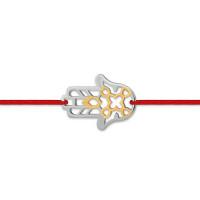 Серебряный браслет красная нить ЮП1400041381