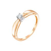 Золотое кольцо с бриллиантом ИМК0125-120