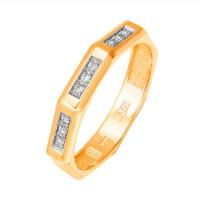 Золотое кольцо обручальное с бриллиантами ФН1863-110