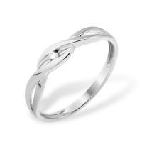 Серебряное кольцо с бриллиантом ЮП1040011551