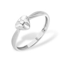 Серебряное кольцо с бриллиантом ЮП1040011553