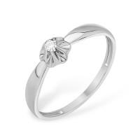 Серебряное кольцо с бриллиантом ЮП1040011635