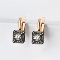 Золотые серьги с фианитами ДИ028810