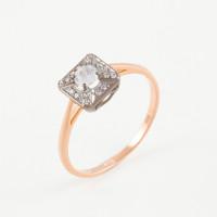 Золотое кольцо с фианитами ДИ018525