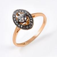 Золотое кольцо с фианитами ДИ018540