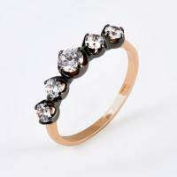 Золотое кольцо с фианитами ДИ018526