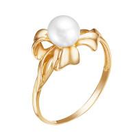 Золотое кольцо с жемчугом ЮИК140-4544