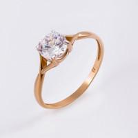 Золотое кольцо с сваровски