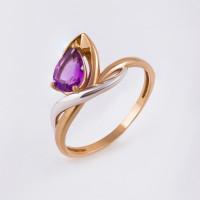 Золотое кольцо с аметистом ЮИК122-4482ам