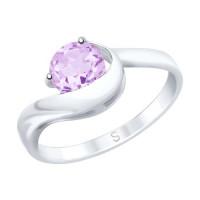 Серебряное кольцо с аметистами ДИ92011757