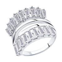 Серебряное кольцо с фианитами ДИ94013107