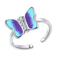 Серебряное кольцо с фианитами ДИ94013120 детское