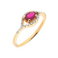 Золотое кольцо с сапфиром 1Р231980