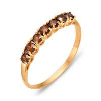 Золотое кольцо с раухтопазами ЮИК120-1515тр
