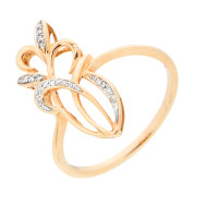 Золотое кольцо с бриллиантами ЛВУ933ДВА4РВ