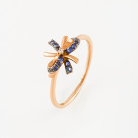 Золотое кольцо с бриллиантом и сапфирами ЛВ1588САР4РГА11