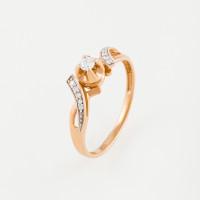 Золотое кольцо с бриллиантами ЛВК569ДВА4РЗЗ