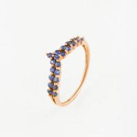 Золотое кольцо с сапфирами ЛВ1586САР4РРА11
