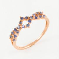 Золотое кольцо с сапфирами ЛВ1587САР4РРА11