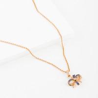 Золотое колье с бриллиантом и сапфирами ЛВ1588САН4РГА11
