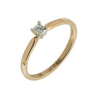 Золотое кольцо с бриллиантом КТЗК-88032