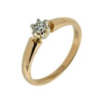 Золотое кольцо с бриллиантом КТЗК-90247