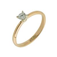 Золотое кольцо с бриллиантом КТЗК-89608