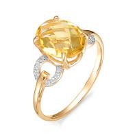 Золотое кольцо с топазами НЮ102020191559