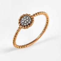 Золотое кольцо с бриллиантами ЛВУ630ДВА4РХ