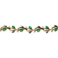 Золотой браслет с изумрудами ЗСБ14060113
