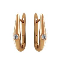 Золотые серьги с бриллиантами КТЗС-90519