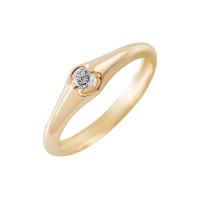 Золотое кольцо с бриллиантом КТЗК-90518