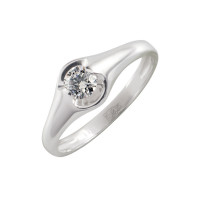 Золотое кольцо с бриллиантом КТЗК-90509-1
