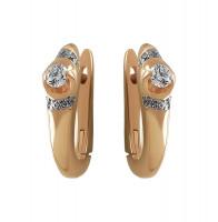 Золотые серьги с бриллиантами КТЗС-90537