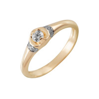Золотое кольцо с бриллиантами КТЗК-90526