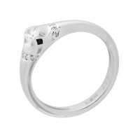 Кольцо из белого золота с бриллиантами КТЗК-90539-1