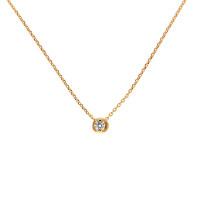 Золотое колье с бриллиантом КТЗКОЛ90517