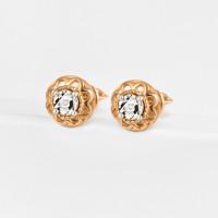 Золотые серьги гвоздики с бриллиантами ЛХ09-01821-02-001-02-01