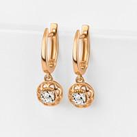 Золотые серьги подвесные с бриллиантами ЛХ02-01821-1-02-001-02-01