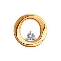 Золотая подвеска с бриллиантом ДИ1030790
